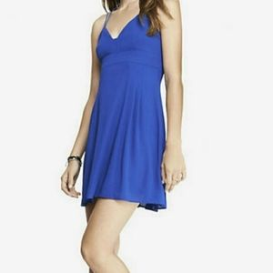 Express Blue Strappy Babydoll Dress